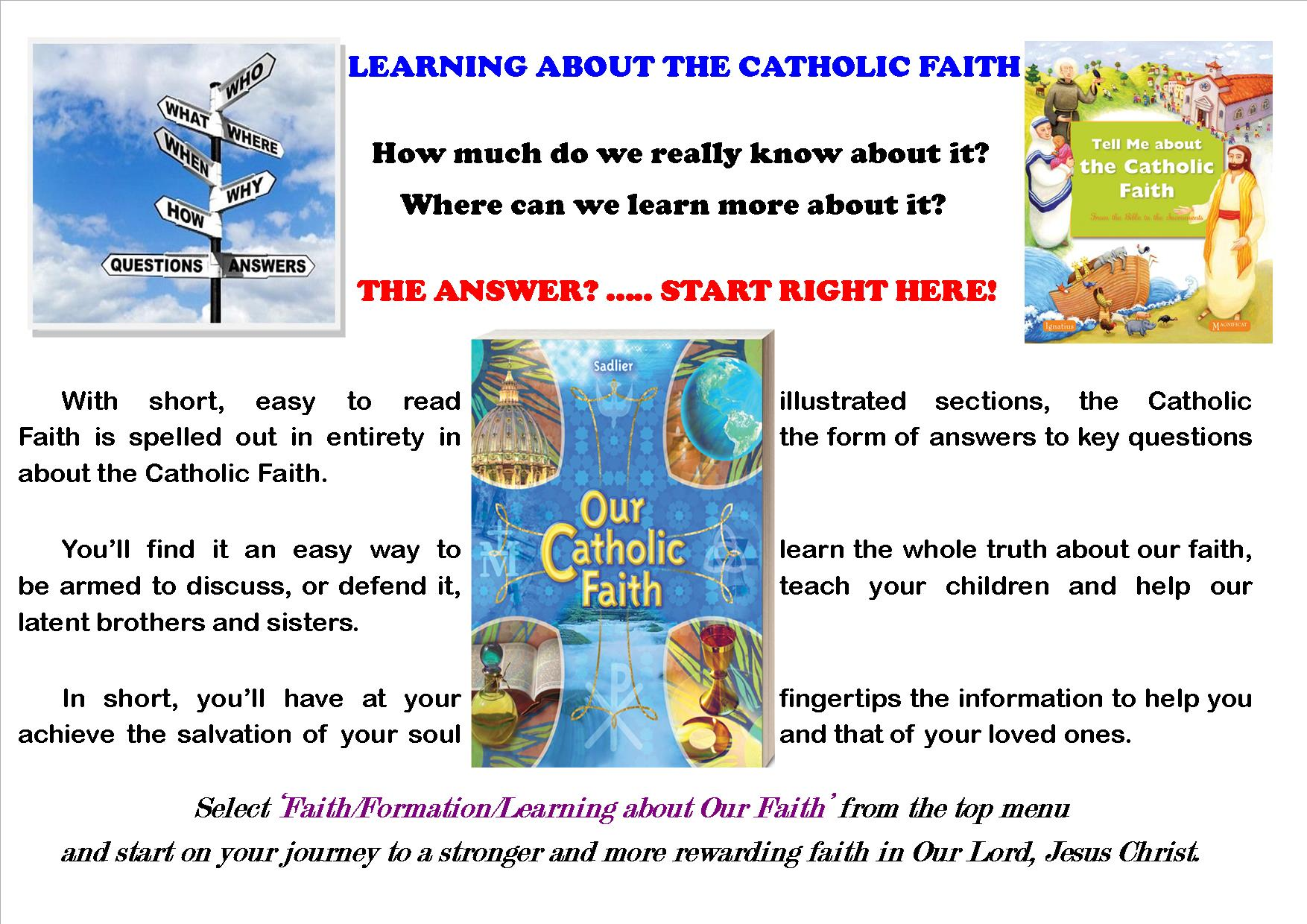 Learning about the Catholic Faith